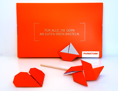 Das PUNKTUM Origami-Direct-Mailing | B2B-Kommunikation mit Ingenieur-Know-how